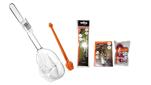 Trout Fish Ready 2 - Ready2Fish Hook Remover, 2 Sets of Fishing hooks, Fishing net and Floats Bundle kit.