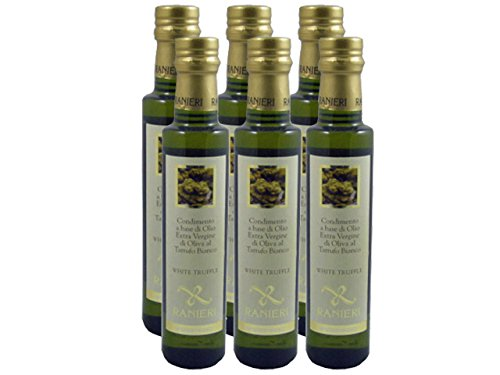 White Truffle Oil (Extra Virgin Olive Oil Infused With White Truffle) By Ranieri (Case of 6 - 8.5 Ounce Bottles)