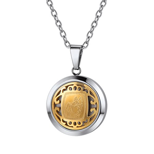 PROSTEEL Sagittarius Constellation Necklace Pendant Stainless Steel Gold Horoscope Astrology Zodiac Jewelry Birthday Gifts for Men Women (Best Gift For Sagittarius Man)