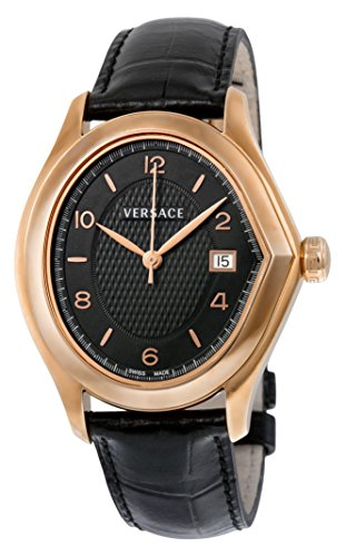 Versace Master Black Dial Rose Gold-plated Stainless Steel Ladies Watch 20Q80D009-S009