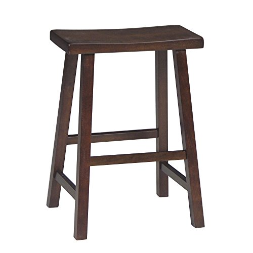 International Concepts 1S61-682 Saddle Seat Barstool Walnut 24