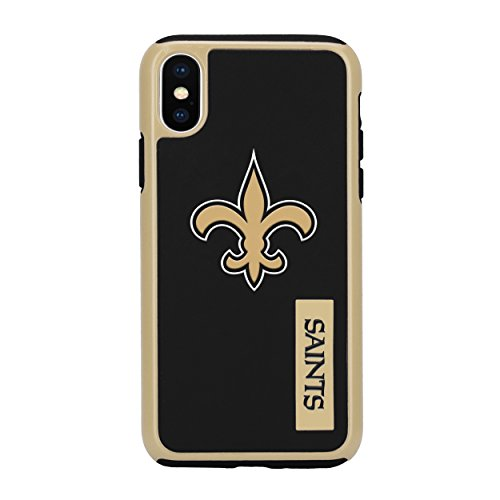 Forever Collectibles iPhone X Dual Hybrid Impact Licensed Case - NFL New Orleans Saints