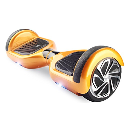 6.5'' UL2272 Certified Smart Self Balancing Hoverboard Personal Adult & Kids Transporter with LED Light (Gold) by WorryFree Gadgets