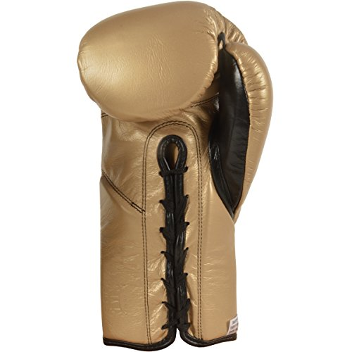 Cleto Reyes Official Lace Up Competition Boxing Gloves - 8 oz. - Solid Gold by Cleto Reyes (Image #2)