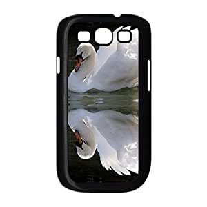 DIY swan Phone Case, DIY Hard Back Durable Case for samsung galaxy s3 i9300 with swan (Pattern-8)