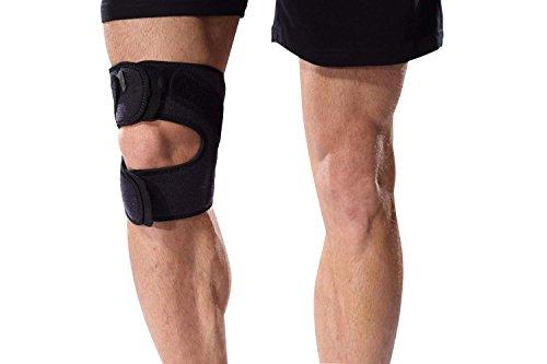 Bonmedico® Genuo, einstellbare Kniebandage, unterstützt beim Sport wie z.B. Laufen und Fitness. Kreuzband, Meniskus, Patella, uvm. werden aktiv stabilisiert. Die Bandage ist geeignet für Damen und Herren, rechts und links tragbar, elastisch, atmungsaktiv und antibakteriell.