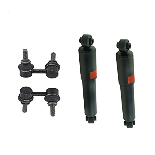 Detroit Axle - Pair (2) New Rear Complete Quick Install Shock Absorbers and Rear Sway Bar Links for 2005-2012 Nissan Pathfinder (Nissan Coil Springs Pathfinder)