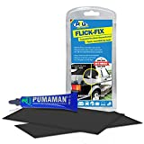 ATG Flick Fix plastic cover / pond liner / pool repair set, black:Repair of cracks, cuts and holes for convertibles, tarpaulins, plastic covers - the adhesive can also be applied under water (e.g. soft PVC pond liners).