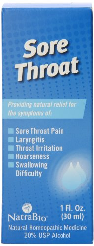 - Natrabio Sore Throat, 1 Ounce