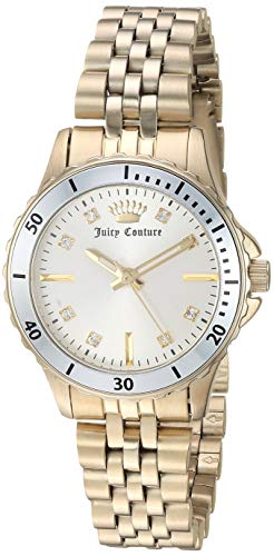 Juicy Couture Black Label Women's Swarovski Crystal Accented Gold-Tone Bracelet Watch