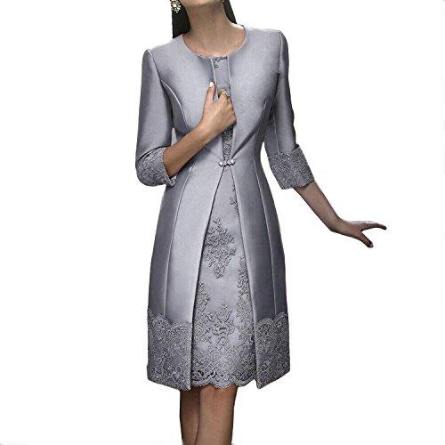 Dressvip - Vestido - trapecio - para mujer plata