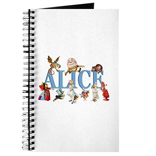 CafePress Alice & Friends in Wonderland Spiral Bound Journal Notebook, Personal Diary, Dot Grid