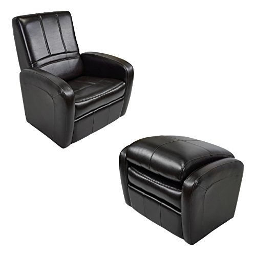 RecPro Charles RV Gaming Chair Ottoman w/Storage Espresso