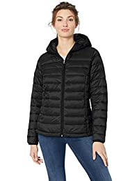 Women's Lightweight Water-Resistant Packable Hooded Puffer Jacket