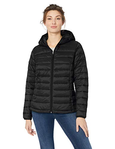 = Women's Lightweight Water-Resistant Packable Hooded Puffer Jacket