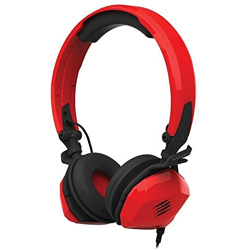 Mad Catz F.R.E.Q. M Mobile Stereo Headset for PC/Mac, iPhone 7, Android, Samsung Mobile Device - Foldable Headphones in Gloss Red [並行輸入品] B07RQKGRW3