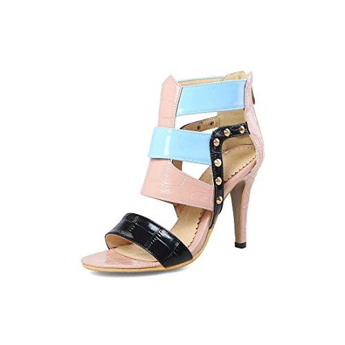 signore sandali sandali alto sandali signore tacco color 44 sandali rosa i sexy vuoto Fq066w