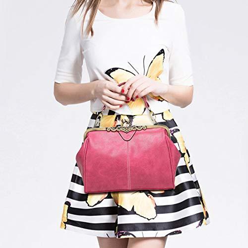 Loisirs Main Femmes Fourre Poignée Vintage Mode À De Pink Voyage Messenger En Souple Shopping La tout Sacs Bandoulière Sac Cuir UUzBn7r