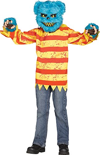 Child Killer Halloween Costume (Killer Bear Costume,Blue / Yellow / Red,Medium (8-10))