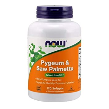 Now Foods Pygeum Saw Palmetto Extract, 120 sgels 2 pack