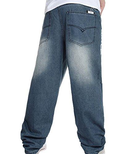 348981fdc803 Men s Hip-hop Washed Baggy Denim Jeans Light Blue 42 - Buy Online in ...
