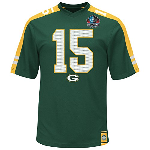 Bart Starr Green Hall of Fame Hashmark Synthetic Top by Majestic (X-Large)
