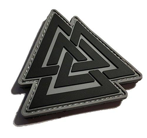 The Viking Odin Symbol Valknut Unicursal Design 3x3 Ancient Valhalla PVC Morale Patch (Empire Tactical)