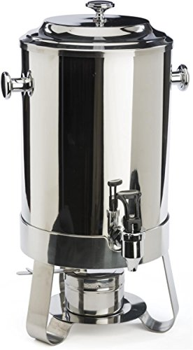 60-cup Coffee Chafer Urn with 3 Legs, 2.9 Gallon Capacity, Hot Beverage Dispenser with Lift-off Lid, Pull-down Lever for Spring Spigot, Stainless Steel