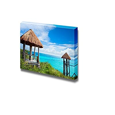 Canvas Prints Wall Art - Beautiful Scenery/Landscape Isla Mujeres Caribbean Sea Mexico | Modern Wall Decor/Home Decoration Stretched Gallery Canvas Wrap Giclee Print & Ready to Hang - 24