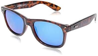 Local Supply Men's EVERYDAY Polarized Sunglasses - Sky Mirror Lens, Polished Tortoiseshell Frames