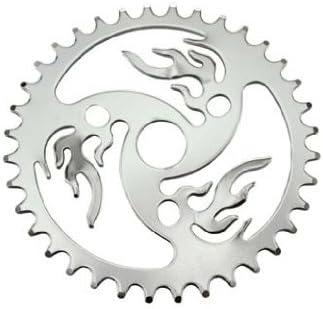 Lowrider スチールバイシクルスプロケットファイア 1/2インチ X 1/8インチ X 36T クロム バイクパーツ 自転車パーツ バイクアクセサリー 自転車アクセサリー
