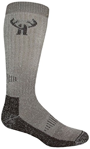 (2 Pack Huntworth Men's Deluxe Merino Boot Sock, Brown, X-large)