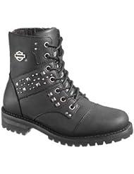 Harley-Davidson Womens Ashana Black 5.75-Inch Boots, Inside Zipper D87026