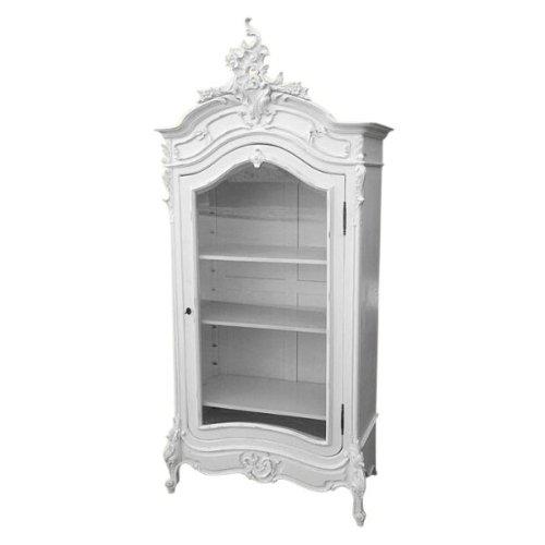 Home Kandi White French Louis Storage Display Cabinet Cupboard Armoire  Wardrobe: Amazon.co.uk: Kitchen U0026 Home
