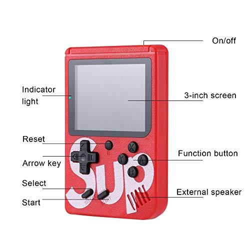 mimaniny Sup Marca Retro Mini Game Boy Consola de Juegos emulador Incorporado en la bater/ía 400 Juegos