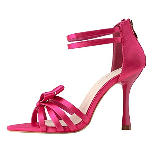 Zanpa Mujer Rojo Tacon Mode Altos Sandalias 1Yq1Fgw