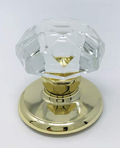(Gainsborough Sonata Crystal Replacement Standard Door Knob (Sonata Crystal, POLISHED BRASS))