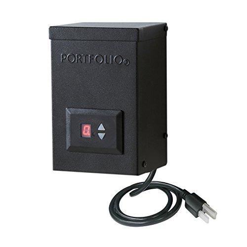 Portfolio 12-Volt Multi-Tap Landscape Lighting Transformer with Digital Timer and Dusk-to-Dawn Sensor