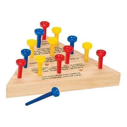 amazon com otc wooden peg game toys games