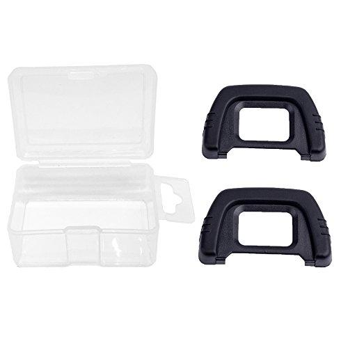 Nikon D40 Viewfinder - Alliebe DK-21 Eyecup Eyepiece Viewfinder for Nikon D7000 D600 D610 D200 D90 D80 D70s D70 D50 D40 (2 Pack) with Alliebe Mini Storage Case