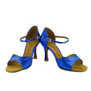 Blanco de Latino Salsa Tacón Personalizado Personalizables Azul Rosa Zapatos white Negro Morado Amarillo baile Rojo 1BxgqS8A