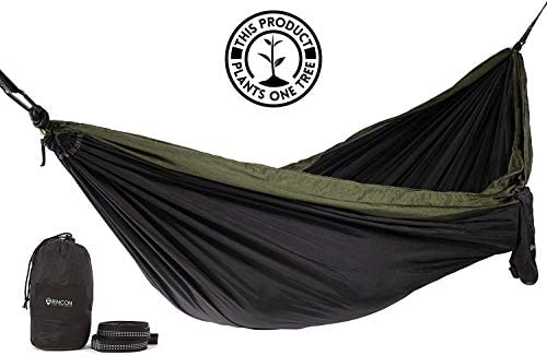 Sunyear Hammock Camping Lightweight Portable Nylon Hammock with 2 Tree Straps 32 Loops,10 ft 2 D-Shape Steel Carabiners-Easy to Assemble Perfect for Camping Backpacking Hiking Travel Beach Yard