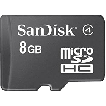 SanDisk 8GB microSD High Capacity (microSDHC) Card - (Class 4) - 8 GB