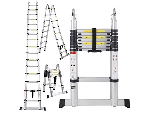 16.5FT Aluminum Telescoping Telescopic Extension Ladder Tall Multi Purpose Ship from USA (Floor Jacks Made In Usa)
