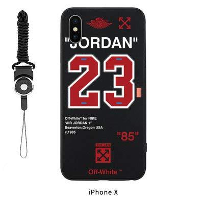 best website de8f3 22ac5 Amazon.com: Jordan 23 Off White iPhone XR Case Cover. Tide Street ...