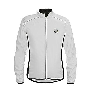 LiangyndaLian Mens Mountain Jacke hohe Sichtbarkeit atmungsaktive Herren Mantel verstellbaren Saum wasserdicht Regen Mantel für Radfahren Laufen & Walking