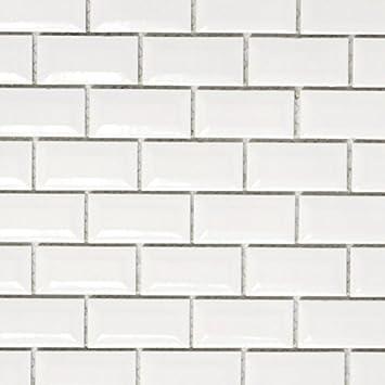 Mini Metro Subway Mosaik Fliese Keramik weiß Brick Bond Diamond für BODEN  WAND BAD WC DUSCHE KÜCHE FLIESENSPIEGEL THEKENVERKLEIDUNG ...