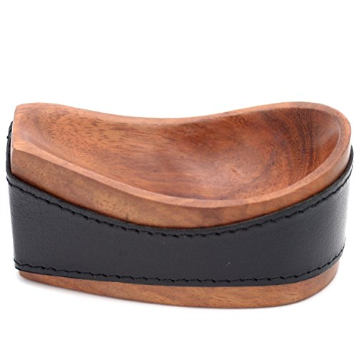 Tobacco Pipe Stand - Authentic Full Grade Buffalo Hide Leather - Black ()