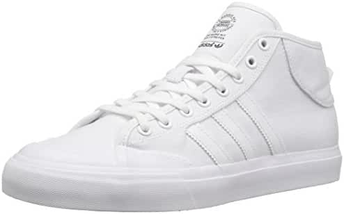 adidas Originals Men's Shoes | Matchcourt Mid Skate, White/White/White, (13.5 M US)