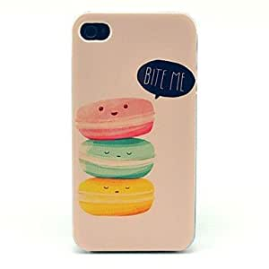 WEV Bite Me Cakes Pattern Hard Case for iPhone 4/4S